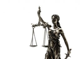 44703770 - statue of justice on the white background
